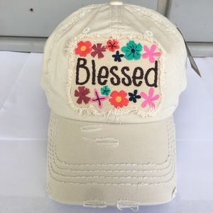 NWT Vintage Blessed Floral Embroidered Cap